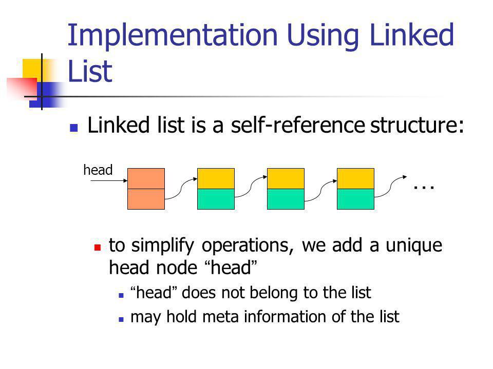 Implementation Using Linked List