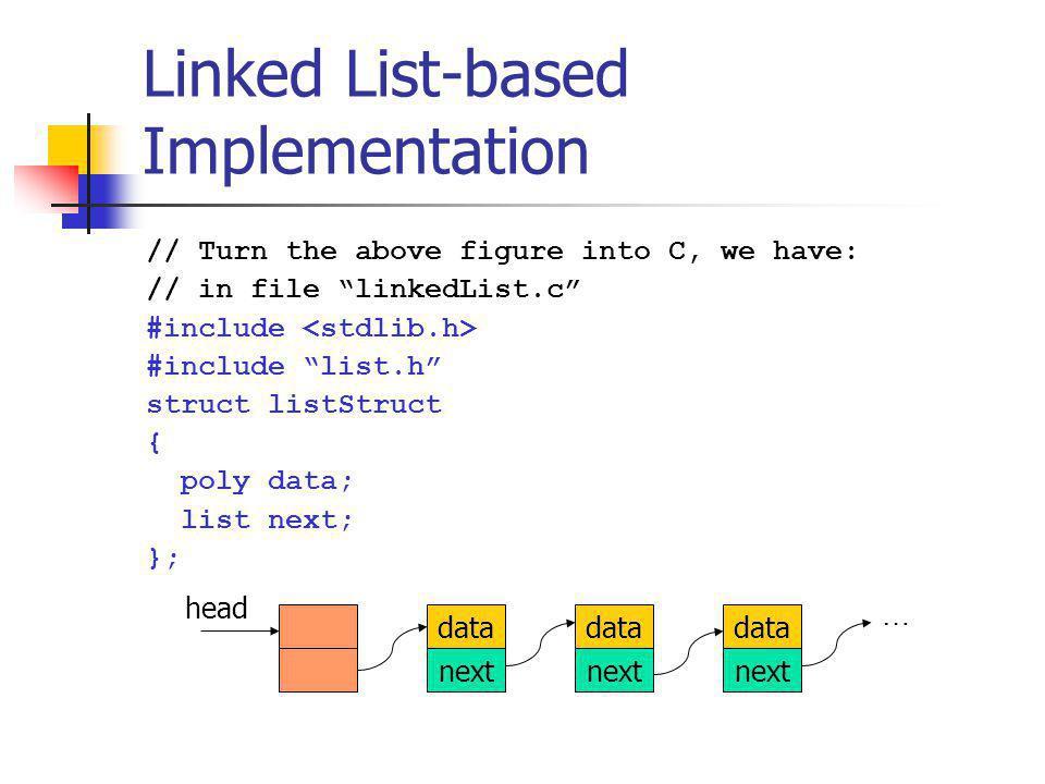 Linked List-based Implementation
