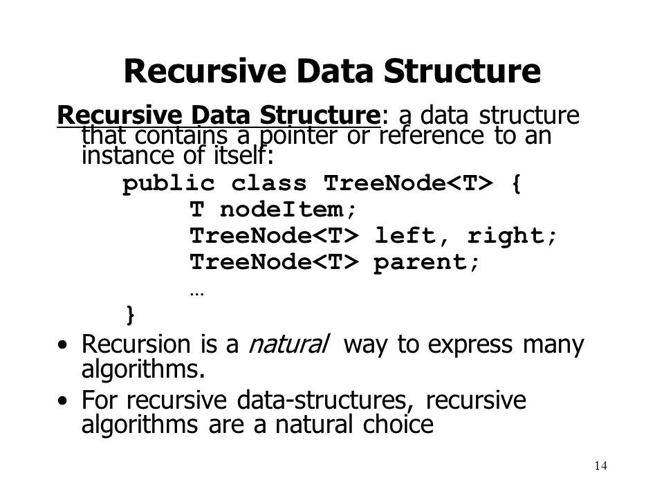 Recursive Data Structure