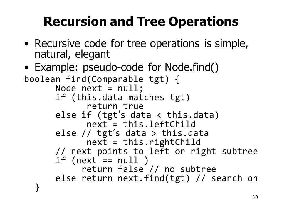 Recursion and Tree Operations