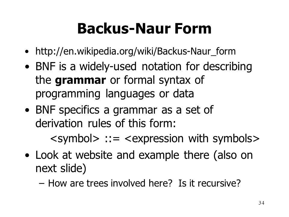 Backus-Naur Form http://en.wikipedia.org/wiki/Backus-Naur_form.
