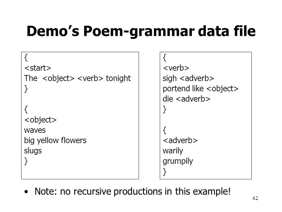 Demo's Poem-grammar data file