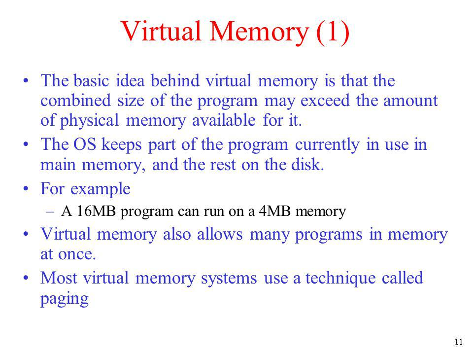 Virtual Memory (1)