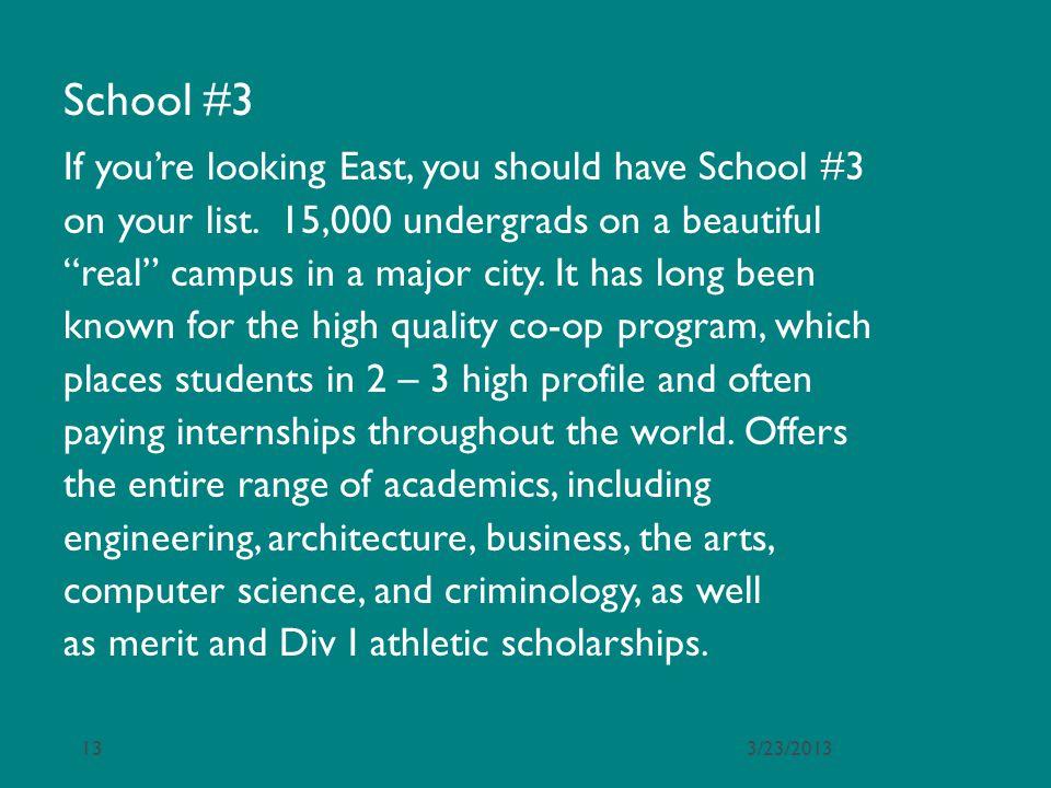 School #3