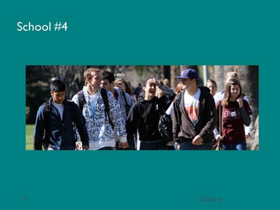 School #4 3/23/2013