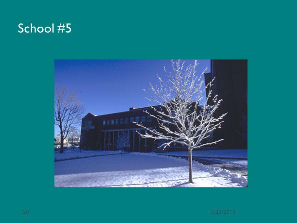 School #5 3/23/2013