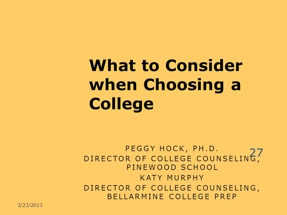 What to Consider when Choosing a College