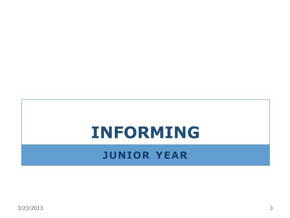 INFORMING JUNIOR YEAR 3/23/2013