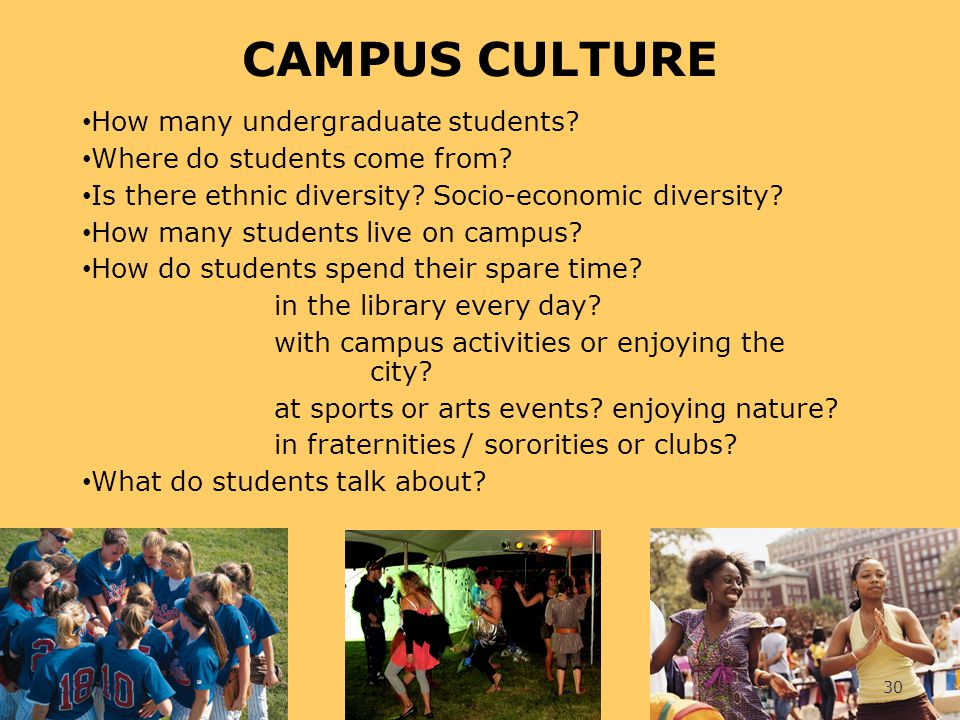 CAMPUS CULTURE How many undergraduate students