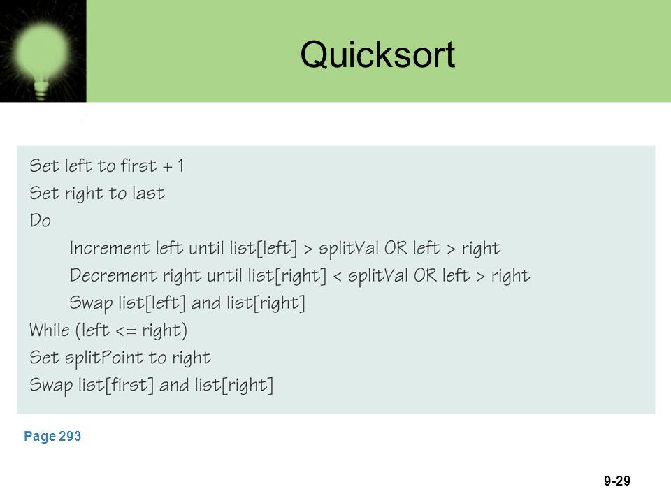 Quicksort Page 293