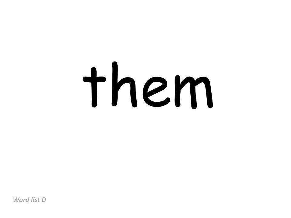 them Word list D