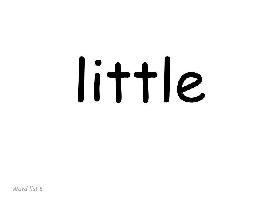 little Word list E