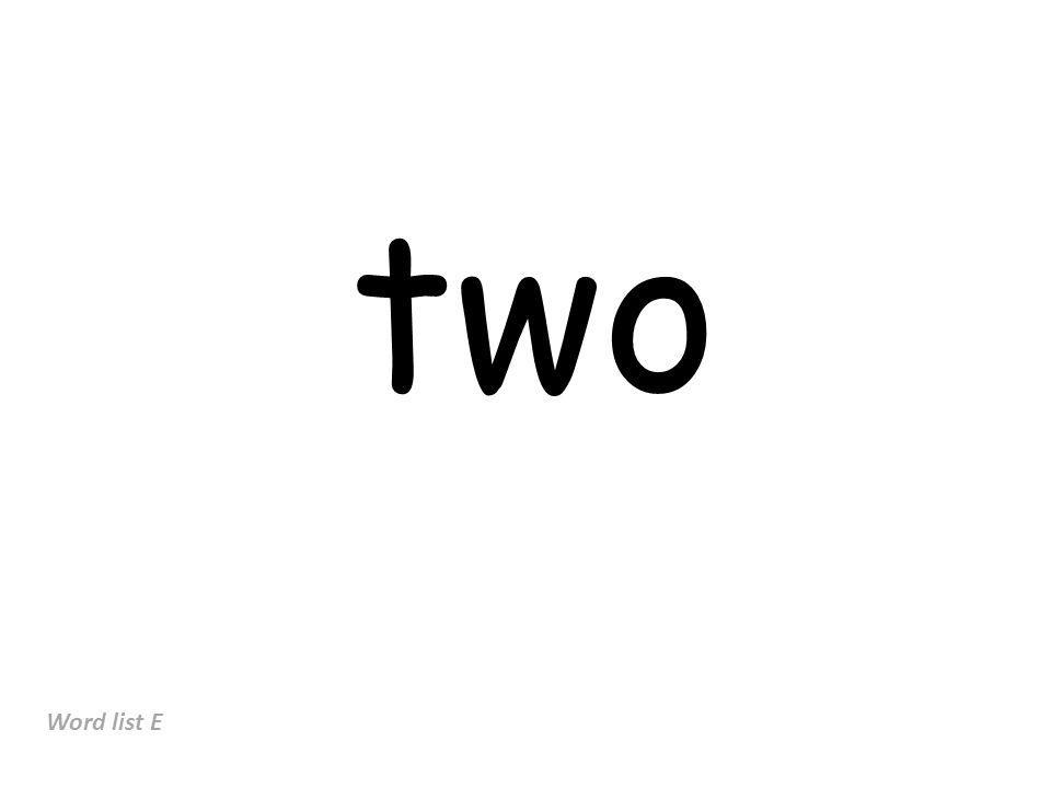 two Word list E