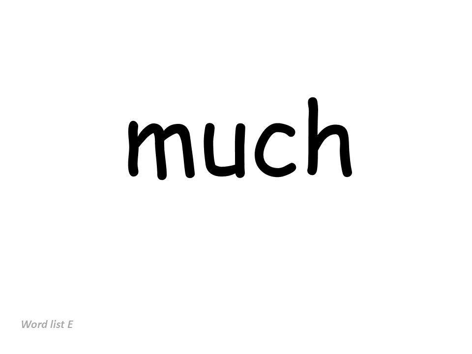 much Word list E