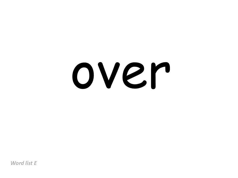 over Word list E