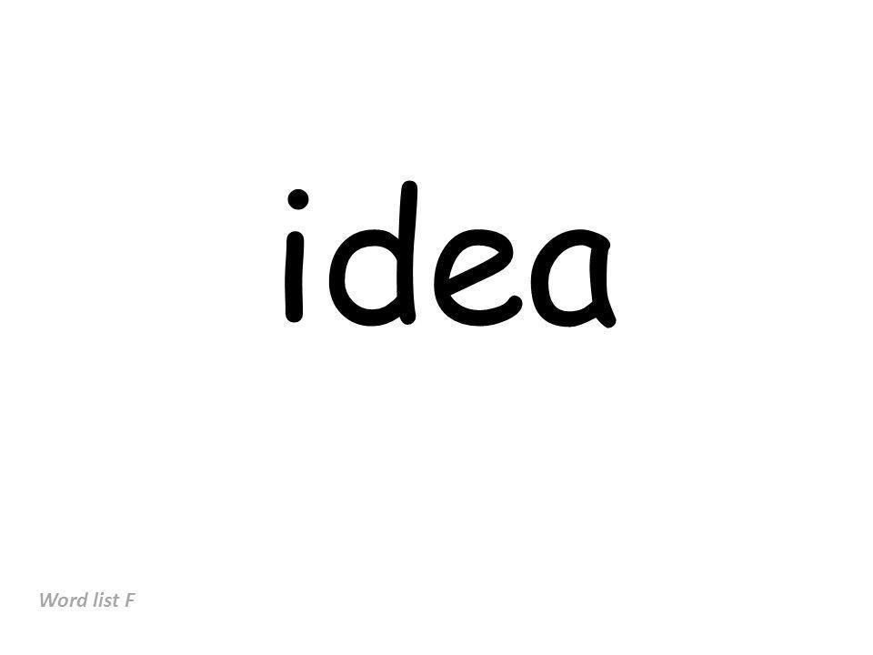 idea Word list F