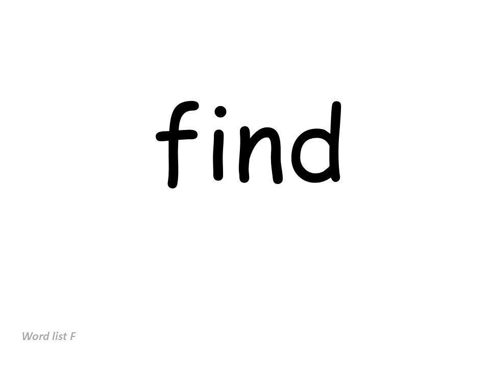 find Word list F