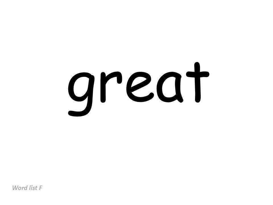 great Word list F