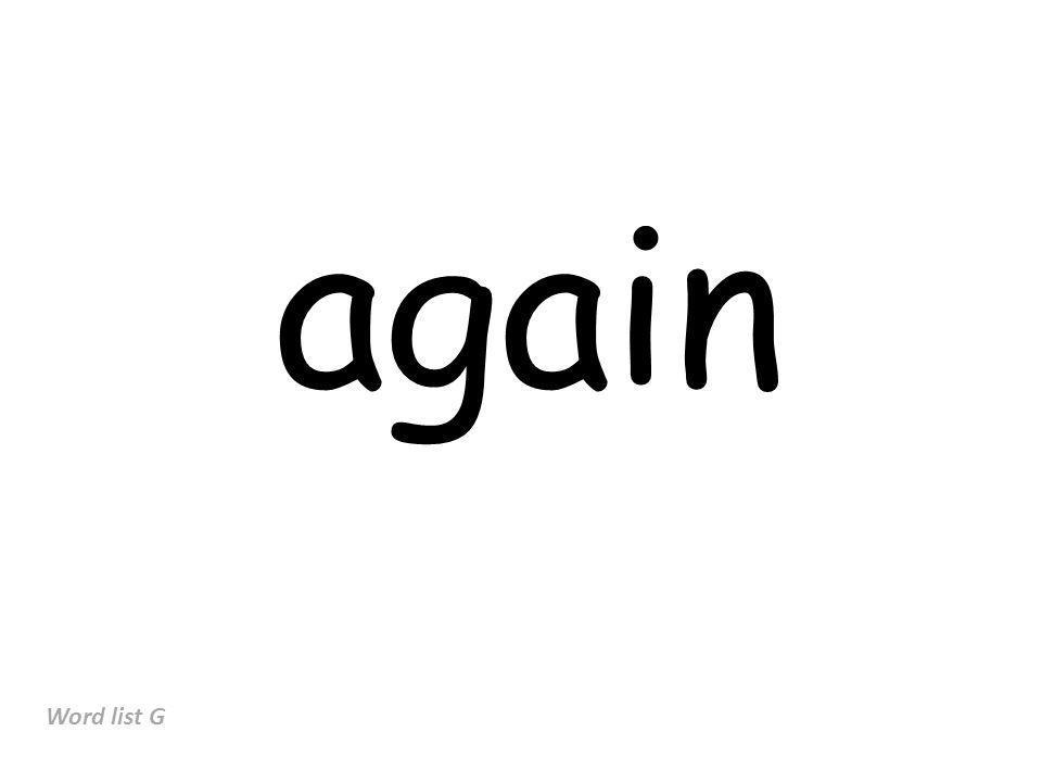 again Word list G