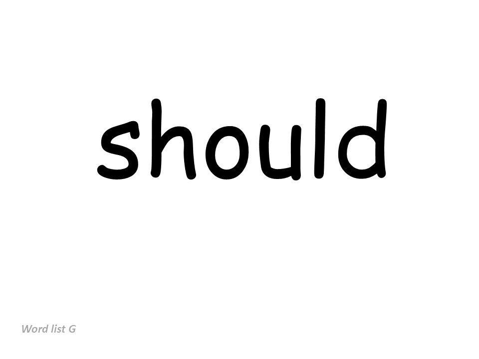 should Word list G