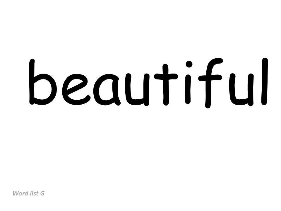 beautiful Word list G