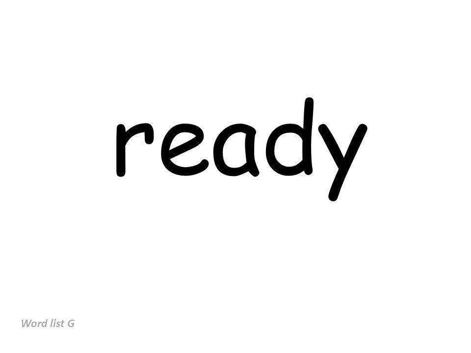 ready Word list G