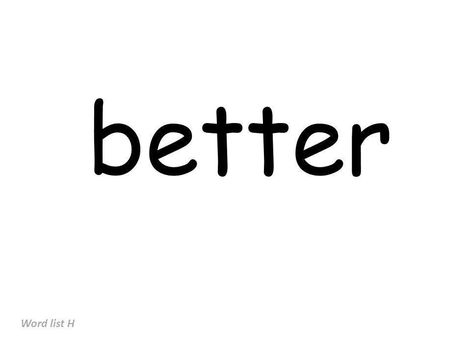 better Word list H