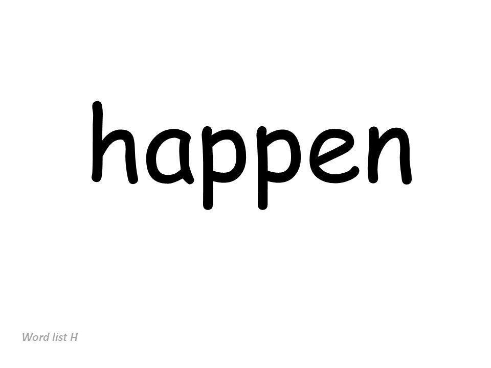happen Word list H