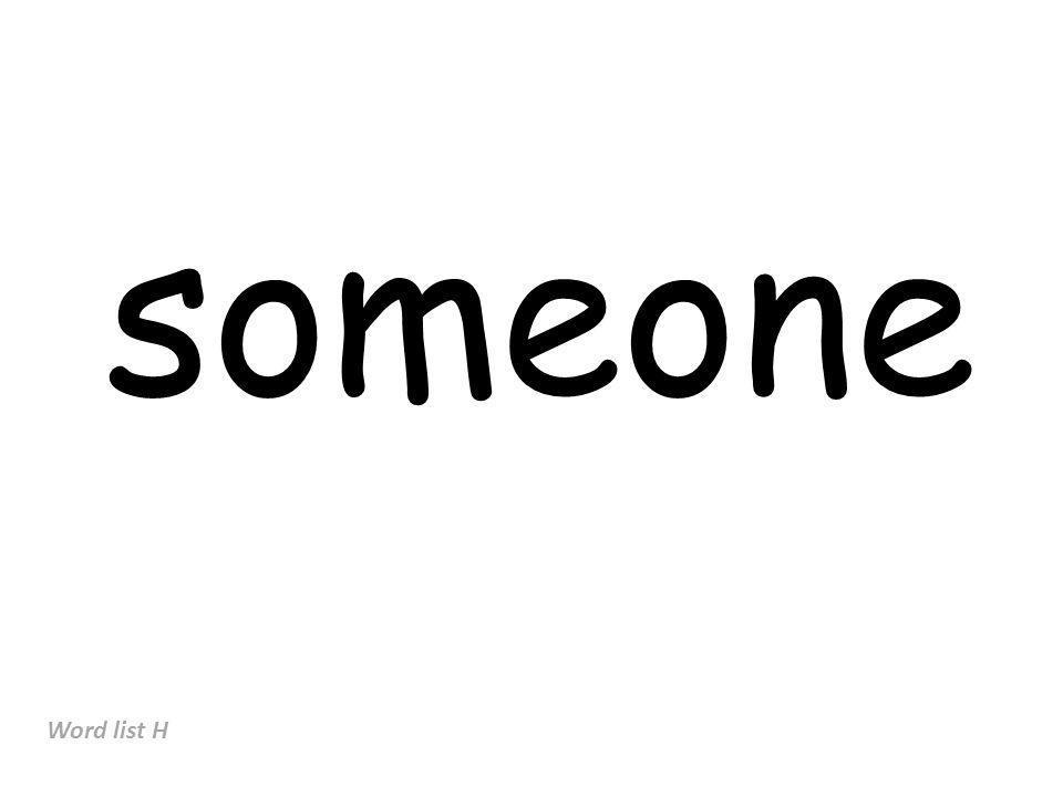 someone Word list H