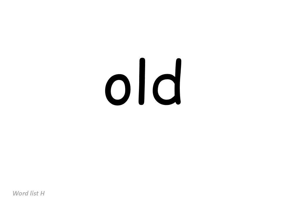 old Word list H