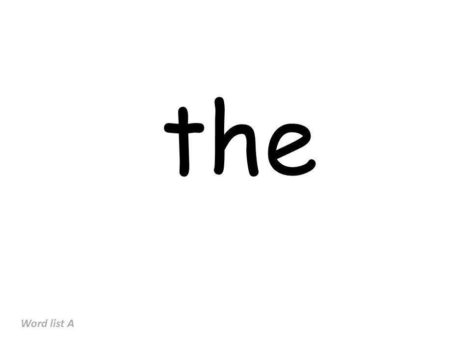 the Word list A