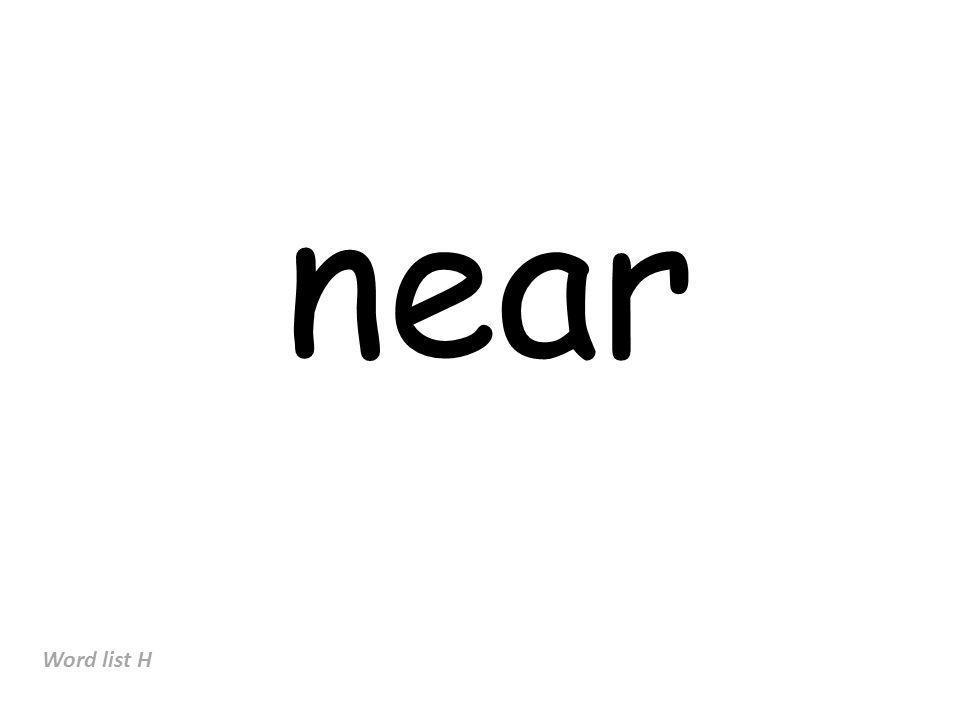 near Word list H