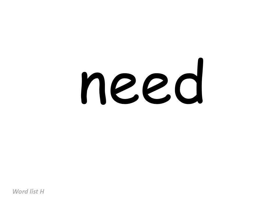 need Word list H