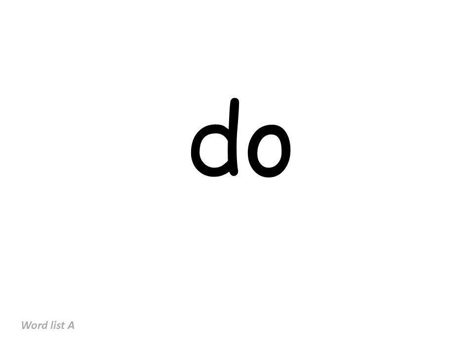 do Word list A
