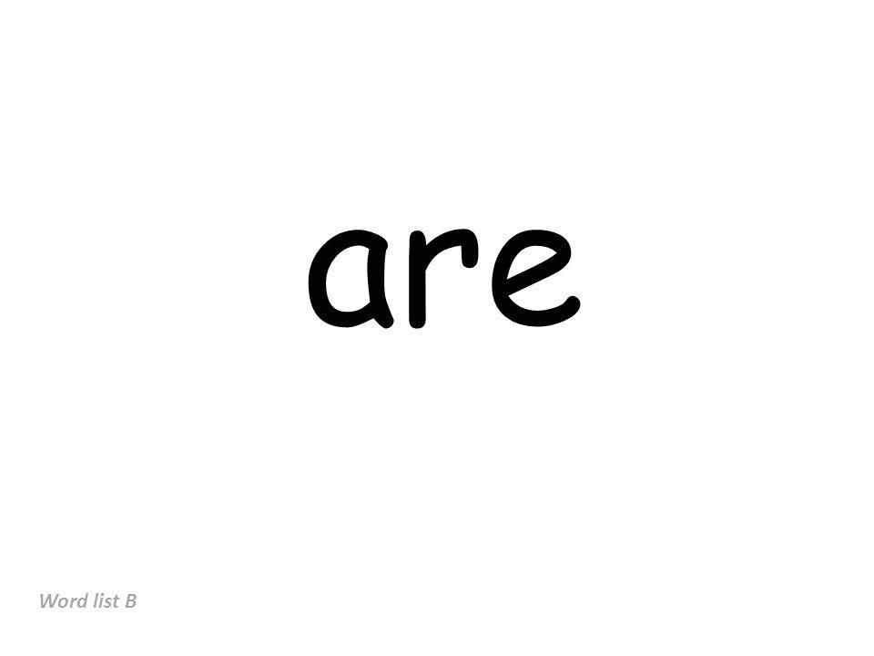 are Word list B