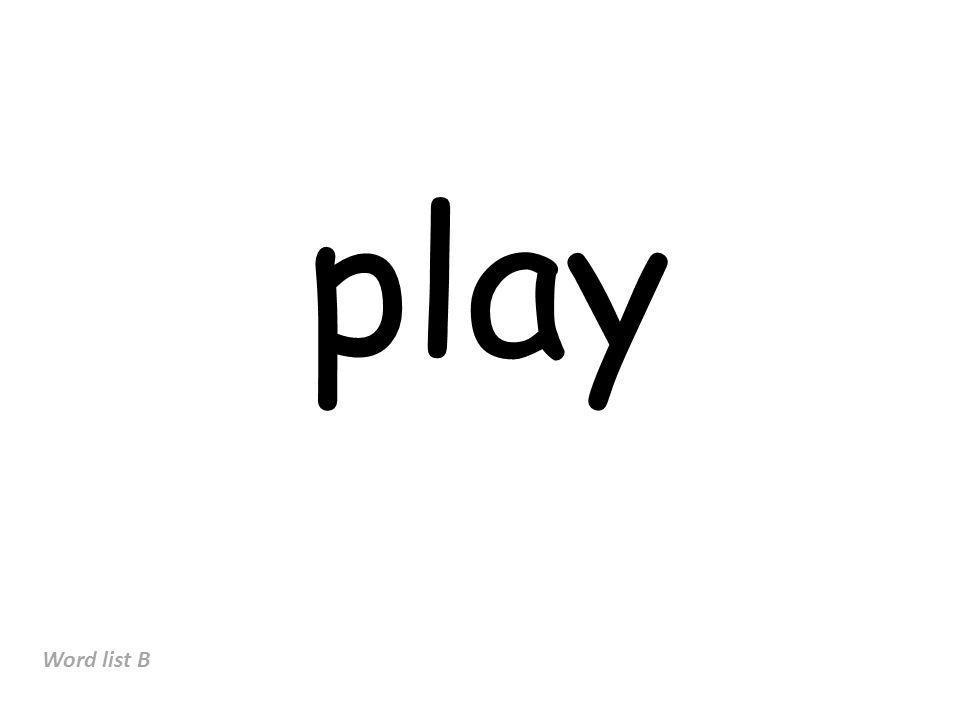 play Word list B