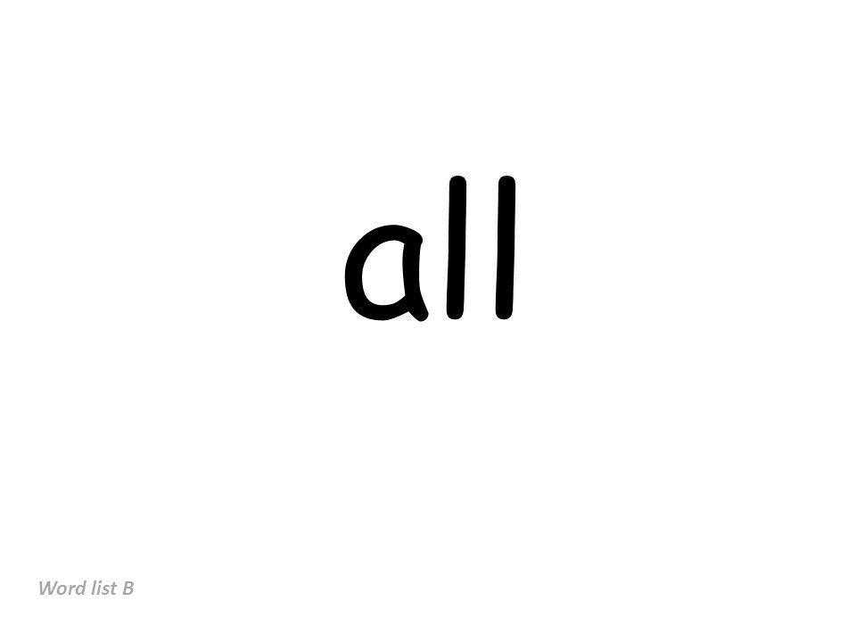 all Word list B
