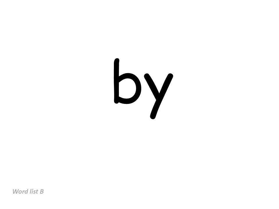 by Word list B