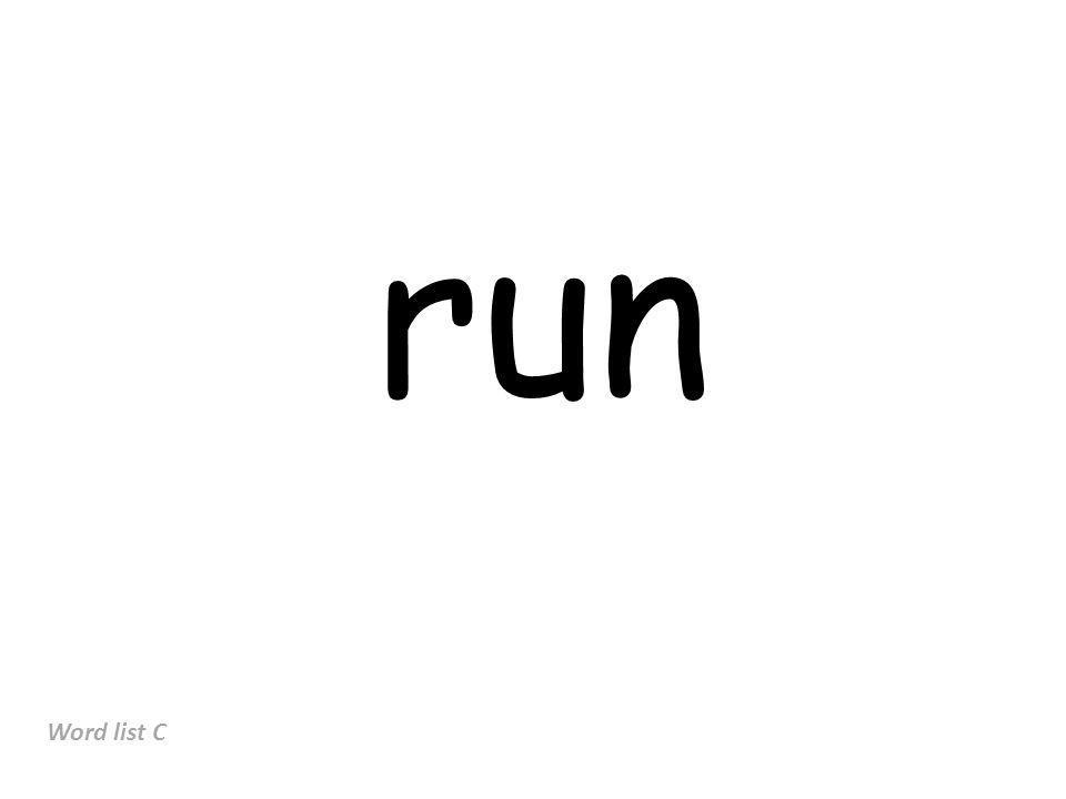run Word list C