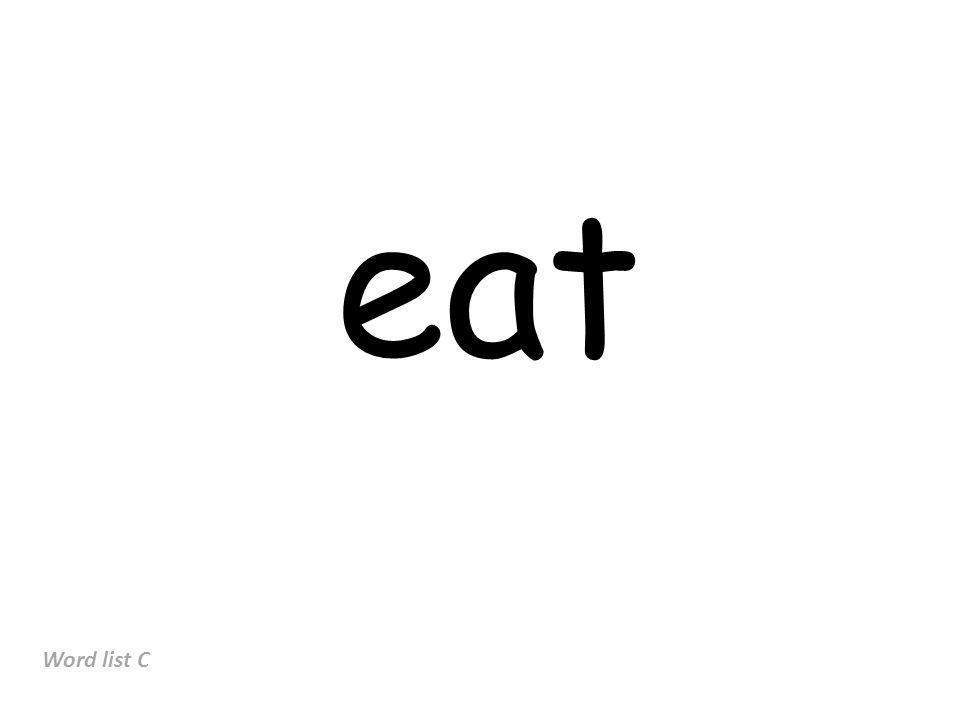 eat Word list C