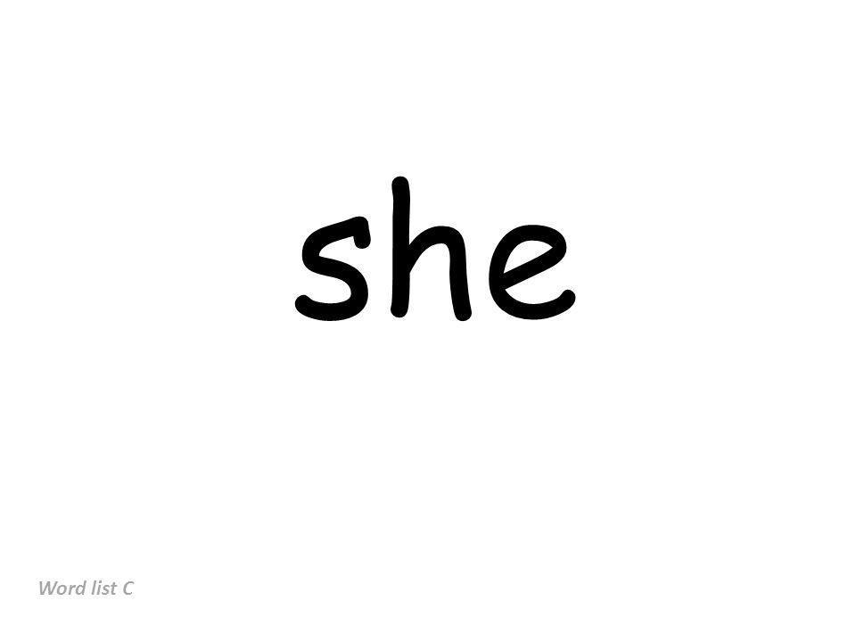 she Word list C
