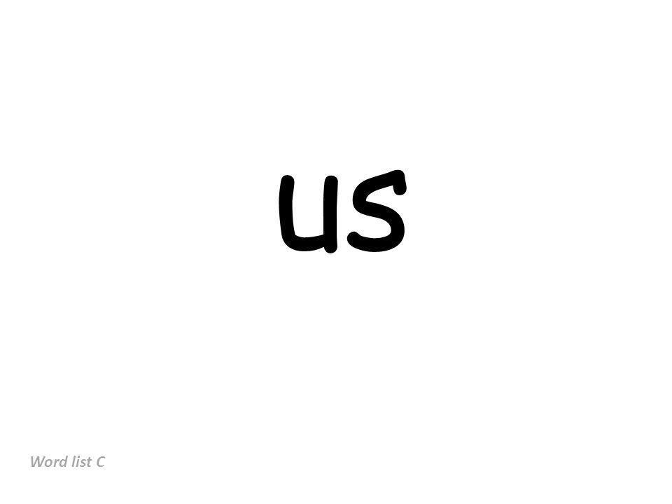 us Word list C