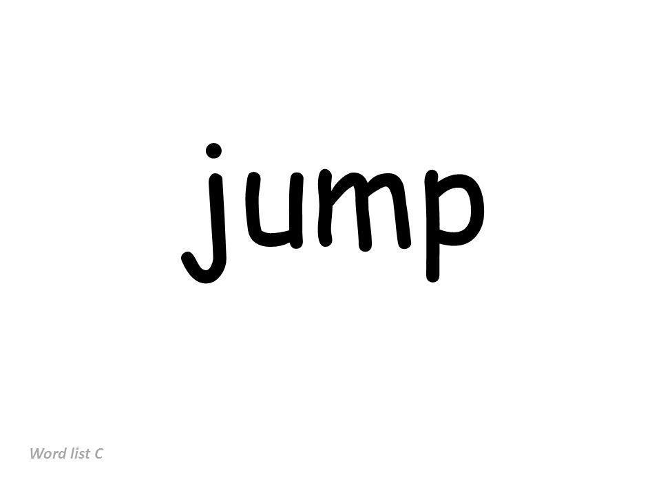 jump Word list C