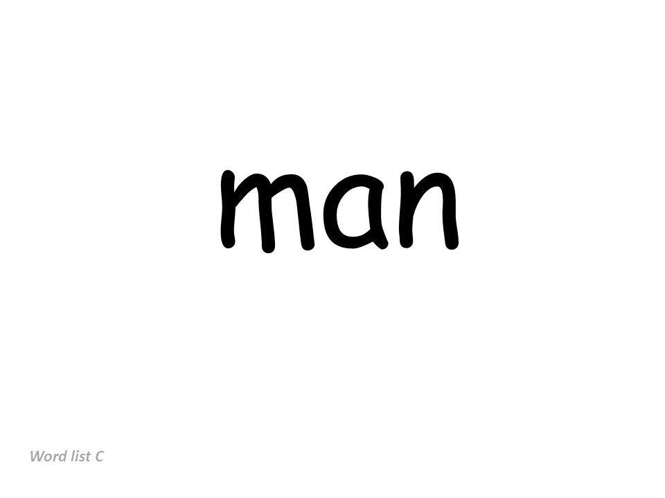 man Word list C