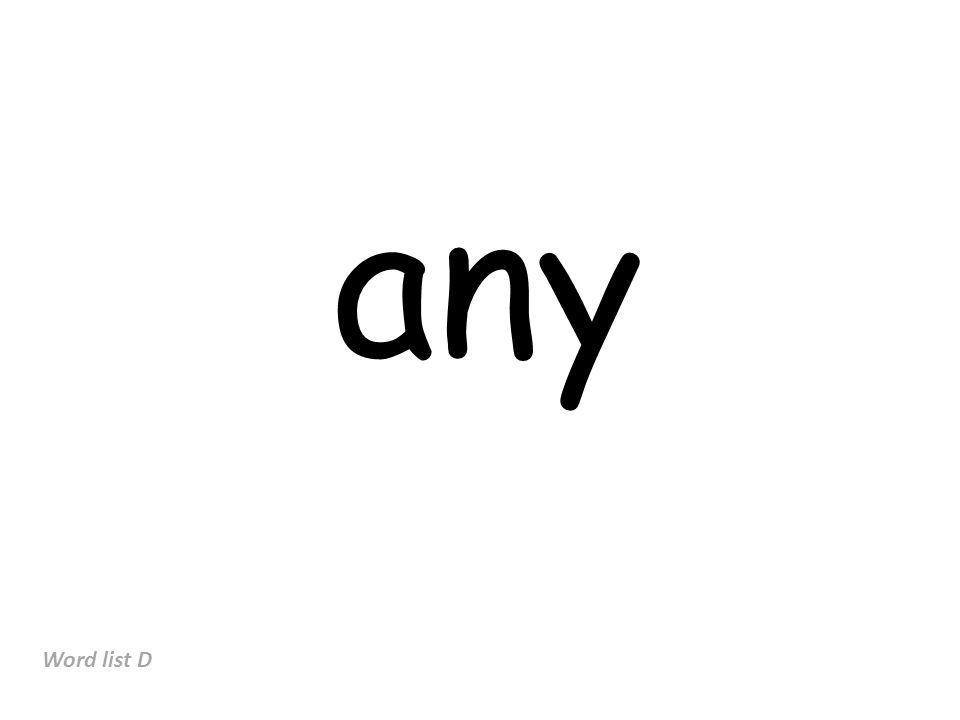any Word list D