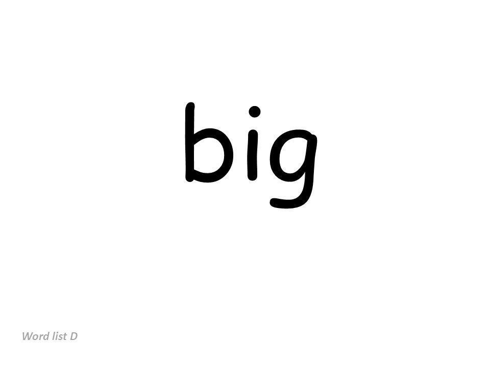 big Word list D