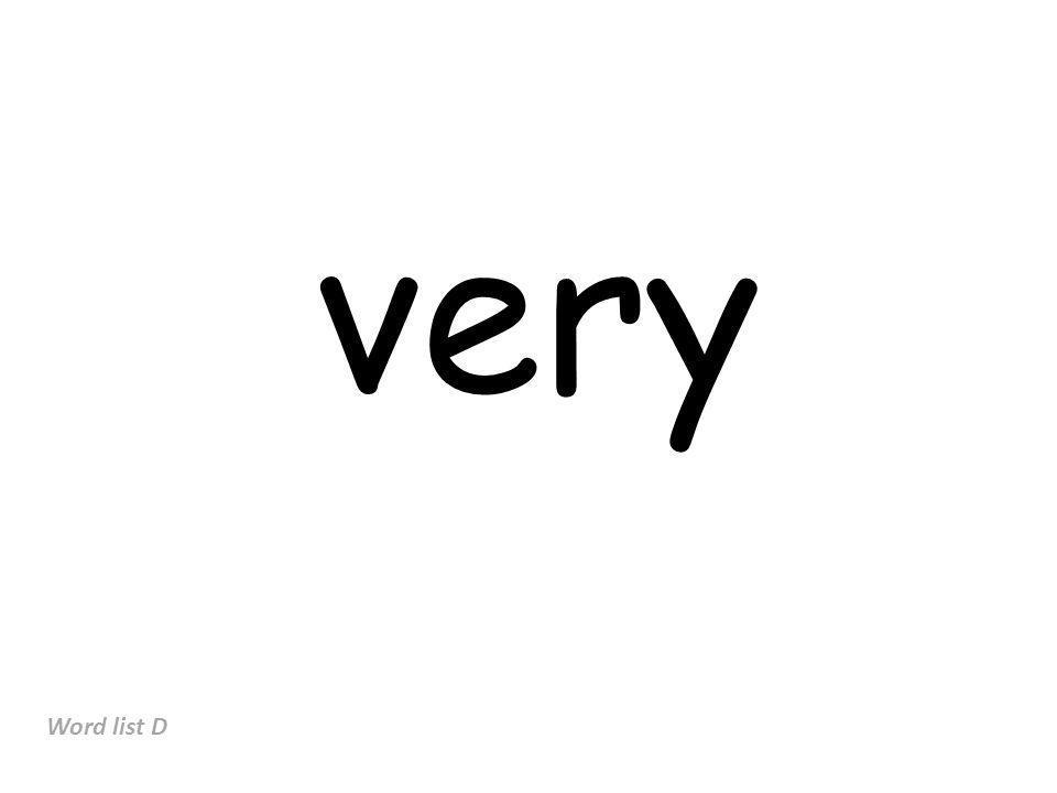 very Word list D