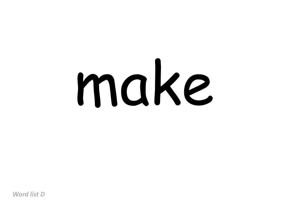 make Word list D