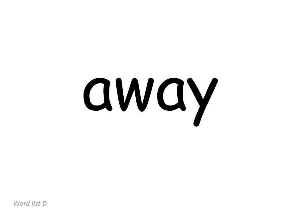 away Word list D