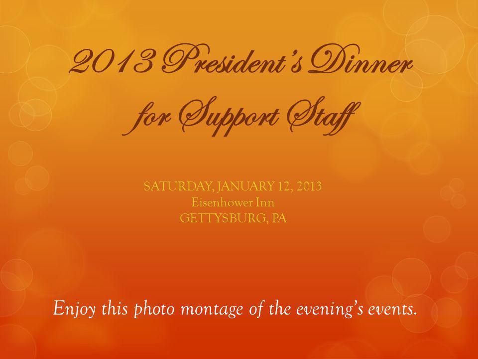 2013 President's Dinner for Support Staff